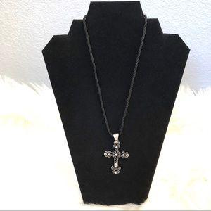 Vintage Lia Sophia Cross Pendant Necklace